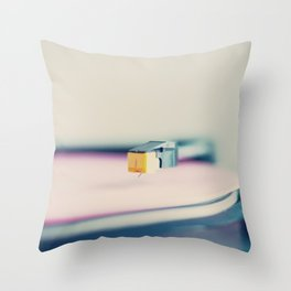 The Pink Record Throw Pillow