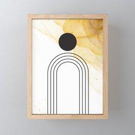 Simple Mid-Century Line Art #2 Framed Mini Art Print