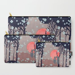 Blooming Owls Carry-All Pouch