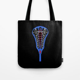 American Flag Colors Life Sport Lacrosse Tote Bag