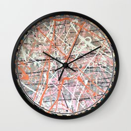 Flight of Color - blue line Wall Clock