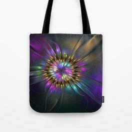Fantasy Flower Fractal Tote Bag