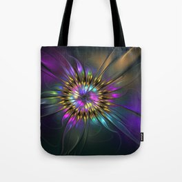 Fantasy Flower Fractal Tote Bag