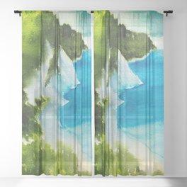 Sea scenery #3 Sheer Curtain