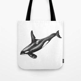 Orca killer whale ink art Tote Bag