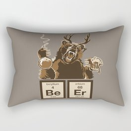 Funny chemistry bear discovered beer Rectangular Pillow