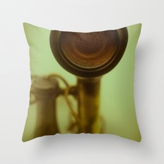 Can you hear me now? Throw Pillow