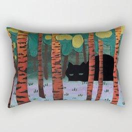 Tiger in Birchforest Rectangular Pillow