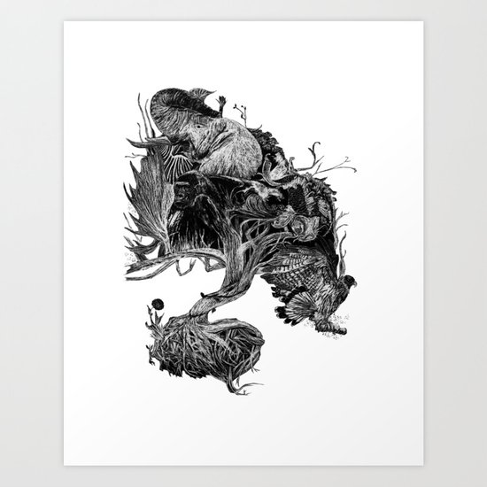 "INTO THE NIGHT: ""Midnight Awakening"" Art Print"