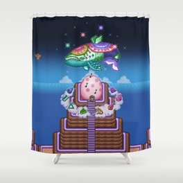 Fish Wind Shower Curtain
