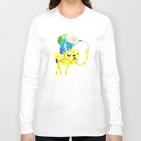 finn and jake Long Sleeve T-shirts featuring Jake and Finn by victorygarlic - Niki
