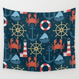 Sea blue pattern Wall Tapestry