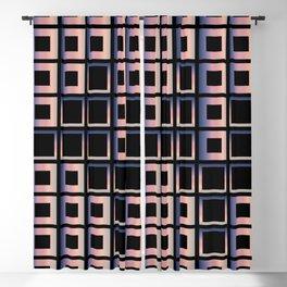 Composition of squares Blackout Curtain