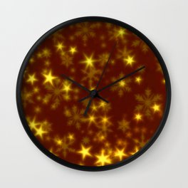 Blurry Stars golden Wall Clock