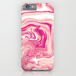 Pink Marble Texture Pattern iPhone Case