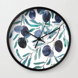 black olive watercolor 2018 Wall Clock