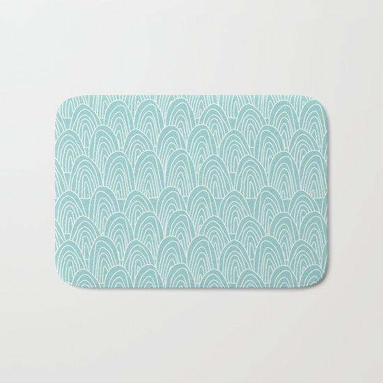 Blue Scribbles Pattern 09 Bath Mat