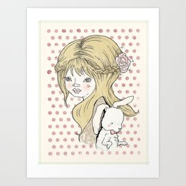 """""""Some bunny loves you"""" Art Print"""