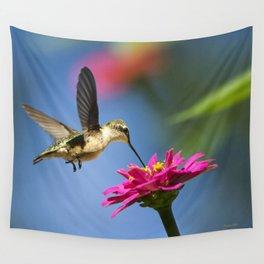Hummingbird Flight Wall Tapestry