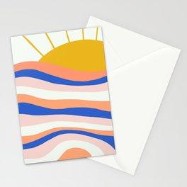 sunrise surf Stationery Cards