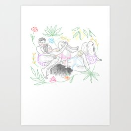LA SIESTE (The Nap ) Art Print