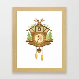 Woodland Cuckoo Clock Framed Art Print