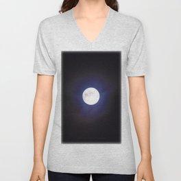 The Moon (Shine Bright) - Jeronimo Rubio Photography 2016 Unisex V-Neck