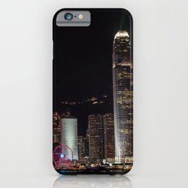 Hong Kong Skyline at Night iPhone Case
