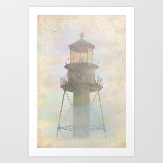 Sanibel Lighthouse Art Print