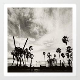 Venice Beach B&W photograph Art Print