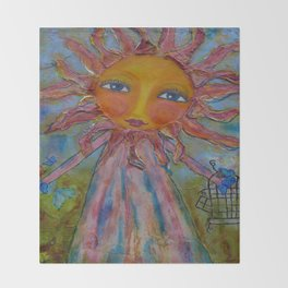 Miss Sunshine - Whimsies of Light Children Series Throw Blanket