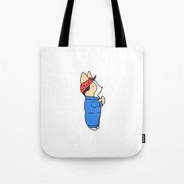 Rosie the Riveter Corgi Tote Bag