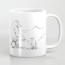 Snowboarding Bears on a Chair Coffee Mug