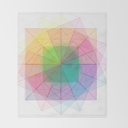 geometric abstract 1 Throw Blanket