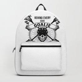 Lacrosse Goalie design Behind Every Good Goalie Gift Backpack