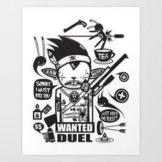SORRY I MUST KILL YOU ! - DUEL Art Print