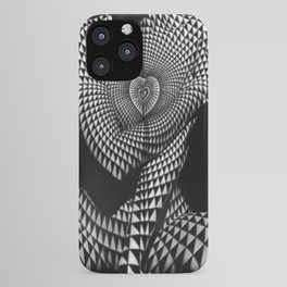 0622-JAL Heart Shape Pattern on Breasts and Nude Body Abstracted by Optical Patten iPhone Case