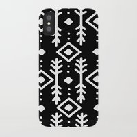 nordic iPhone & iPod Cases featuring BLACK NORDIC by Nika