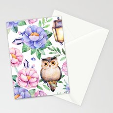 Wisdom Floral with Owl Stationery Cards