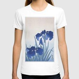 Japanese Iris Flower by  Ohara Koson T-shirt