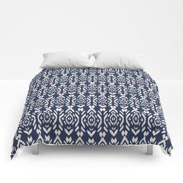 Ikat Navy Comforters