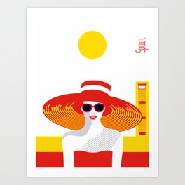 Stylish Journey - Spain Art Print