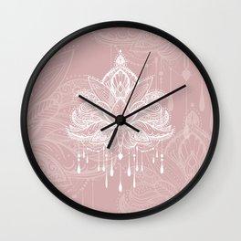 Blush mandala Wall Clock