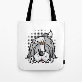 BEARDED COLLIE Dog Doggie Happy Cute Cartoon Comic Tote Bag