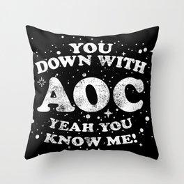 Alexandria Ocasio Cortez Supporter Gift AOC Rap / Hip Hop Design Throw Pillow