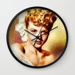 Angela Lansbury, Actress Wall Clock