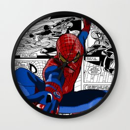 Spider-Man Comic Wall Clock