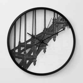 Spiral Stairs Wall Clock