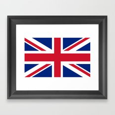 Union Jack Authentic color and scale 3:5 Version  Framed Art Print