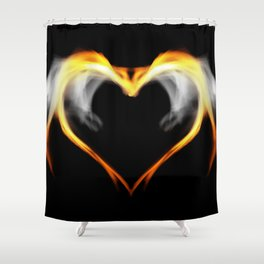 The fire of love Shower Curtain